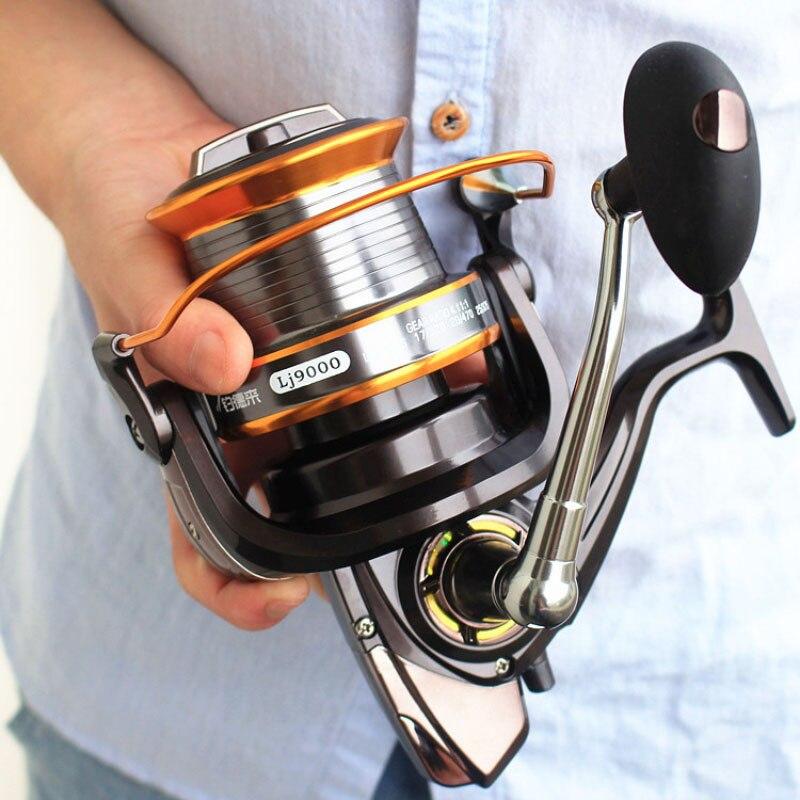 5000-9000 Size 12+1 Ball Bearings Big Trolling Fishing Reels Feeder Metal Fishing Reel Carp Molinete Reel YL-52