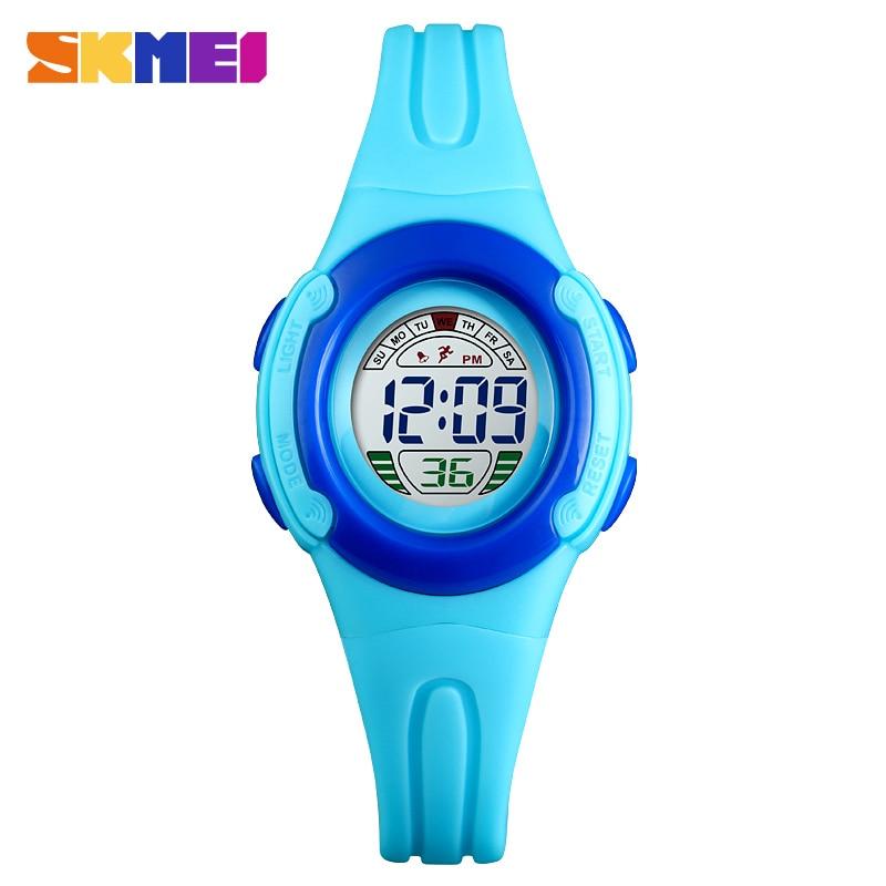 SKMEI Outdoor Sports Children Digital Watches Chronograph Alarm Clock Calendar Function 50M Waterproof Digital Watches 1479