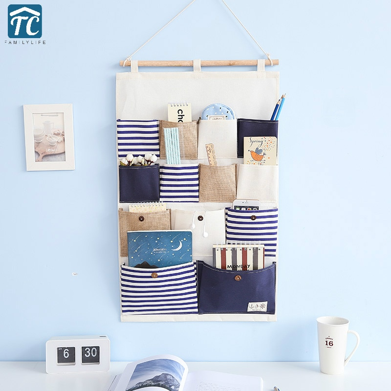 Bolsa de almacenamiento colgante para pared de dormitorio Puerta del dormitorio tela Simple Multi-capa grande miscelánea entrada soportes organizadores Baño