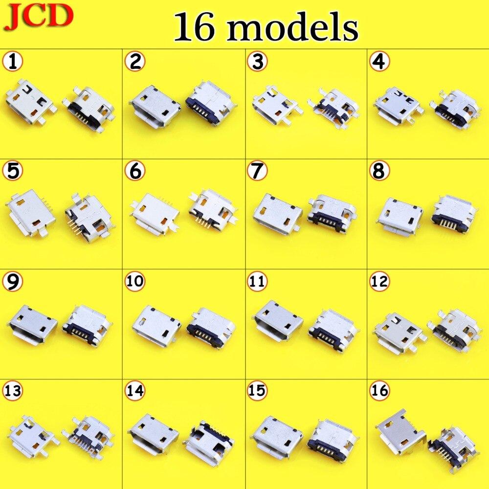 JCD, nuevo Conector Micro USB de 5 pines B Tipo hembra para teléfono móvil, Conector Micro USB, Conector de 5 pines, toma de carga Mini USB
