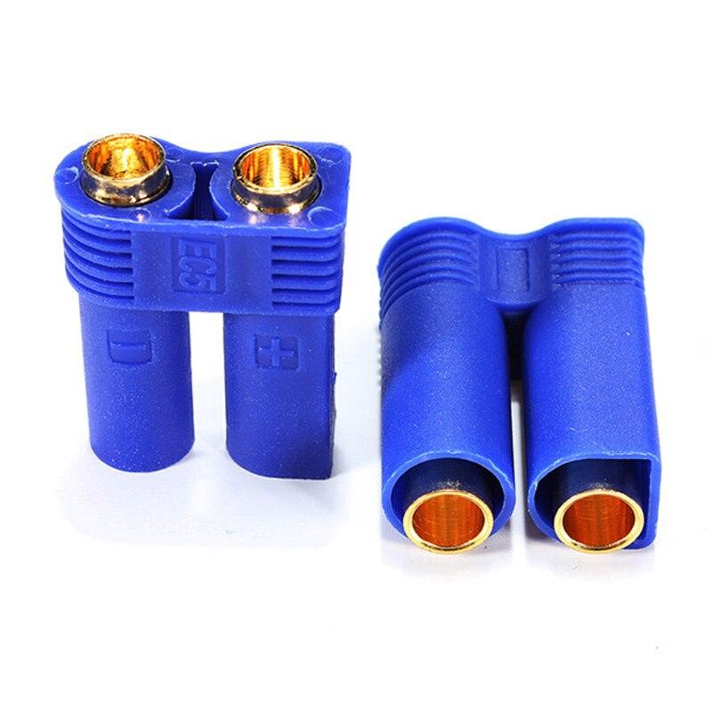 2 par/lote conector EC5 5mm Bullet Connectors1 00A RC LiPo adaptador de carga de batería M/F conector para pieza de control remoto