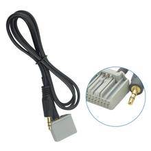 Dewtreetali novo 3.5mm áudio carro gps cabo adaptador aux para honda civic 2006-2013 crv accord entrada conector