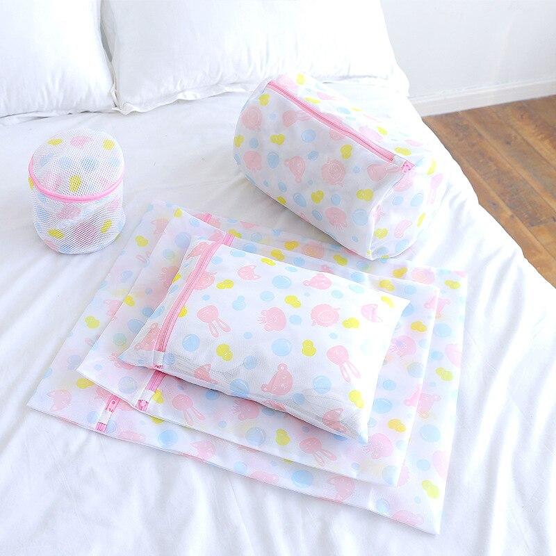 Sac à linge en Nylon pliable à fermeture éclair   À la mode, soutien-gorge, Lingerie de blanchisserie, lavage de la vaisselle, économie déconomie, petit sac en maille aide à la maison