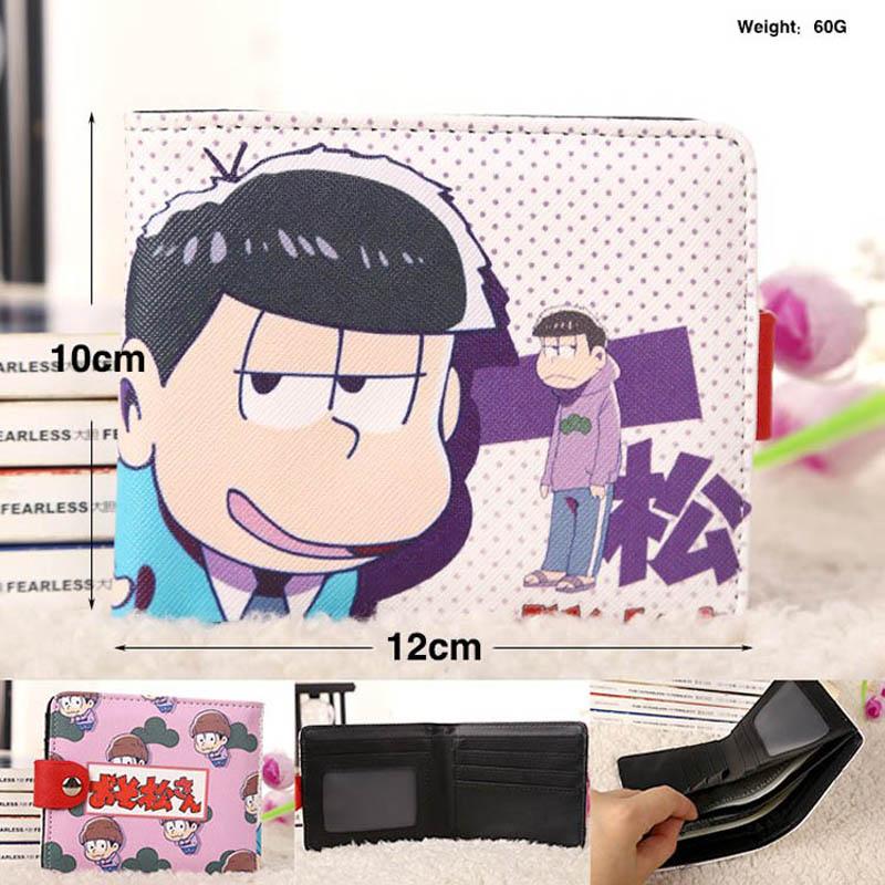 Offre spéciale Anime Osomatsu San cuir synthétique court exquis portefeuille/bouton violet sac à main