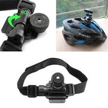Regulowana do rozmiaru głowy wentylowany pasek montowany na kask dla Mobius ActionCam kamera sportowa wideo DV DVR rower mocowanie kasku uchwyt na rower