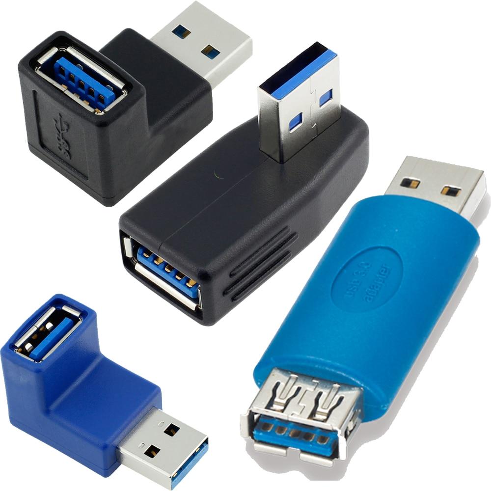 90/180/270 grados USB 3,0 A Puerto hembra A Tarjeta de extensión masculina adaptador de protección ángulo recto USB3.0 AF A extensor AM