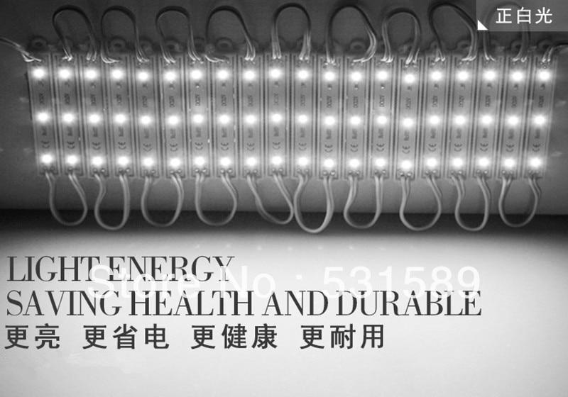 Wholesale 200pcs   waterproof SMD 2835 LED light module LED back light LED modules for sign DC12V 0.24W 3led/pcs  free shipping