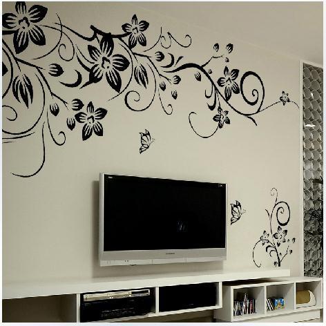 Горячий романтический цветок стикер стены из винограда сделай сам настенные художественные декорации модные ТВ фон диван настенные наклей...