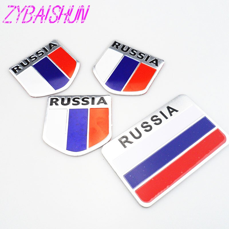 2018 High Quality 3D Aluminum Flag Russia Car Sticker Accessories Stickers for  Ford Focus Fusion Escort Kuga Ecosport Fiesta