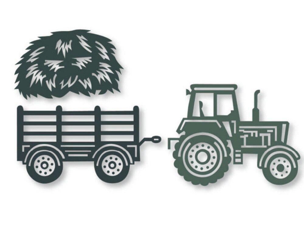 Bi fujian tractores de paja de corte de Metal muere plantillas DIY cuchillo de álbum de recortes papel gofrado artesanía plantilla para hacer tarjetas