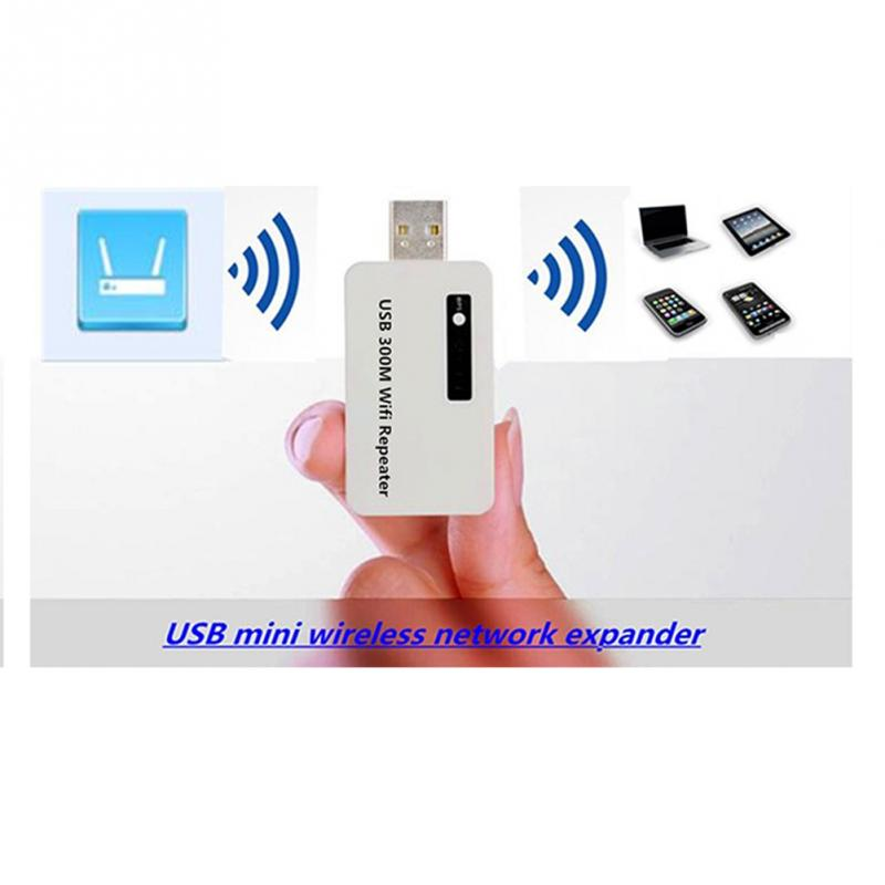 Alta calidad 300M inalámbrico USB WiFi repetidor Mini red enrutador de alcance de señal extender amplificador a través de WPS