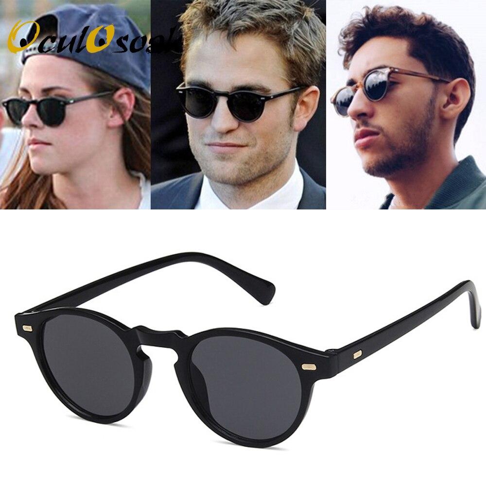 Винтажные Круглые Солнцезащитные очки с прозрачной оправой, брендовые Дизайнерские мужские и женские солнцезащитные очки в стиле ретро gafas...