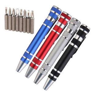 8 в 1 мини гаджеты электрические инструменты для ремонта Ручка стиль прецизионный набор отверток