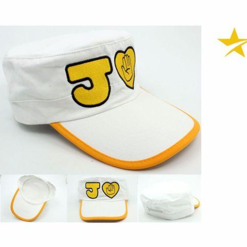Anime JoJos Bizarre Adventure Kujo Jotaro, sombrero de lona blanco, gorra, accesorio de Cosplay