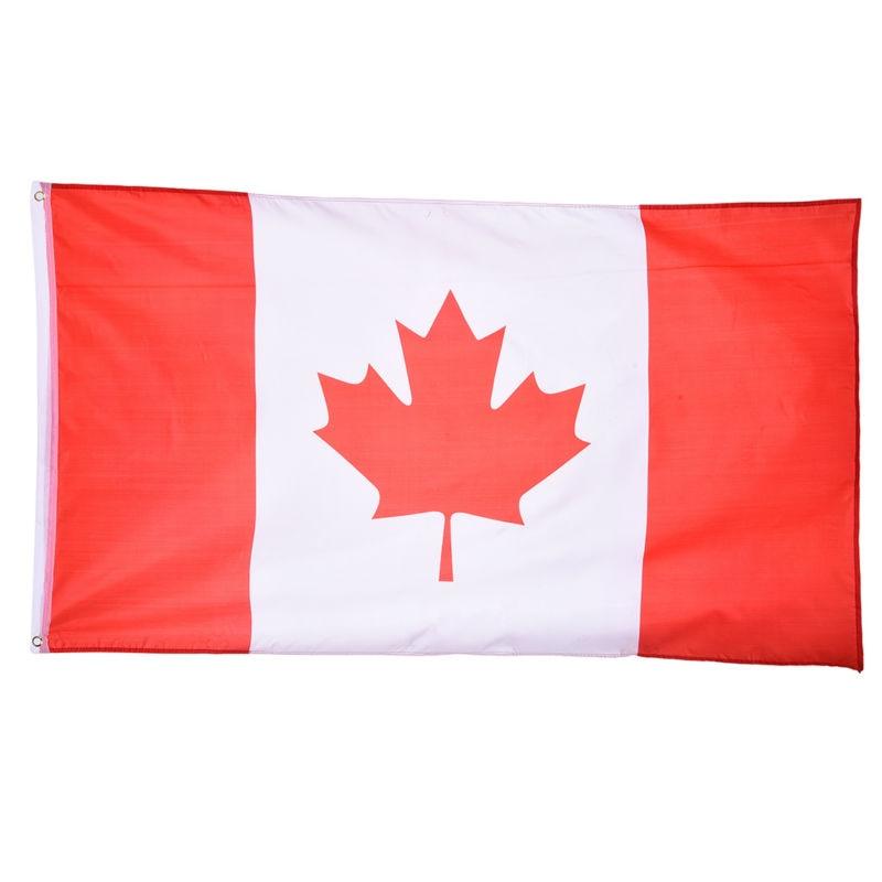 Bandera canadiense 90*150cm para la Copa del mundo/actividad/desfile/Decoración de celebración del Festival banderas nacionales de Canadá