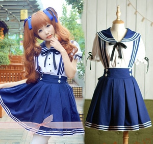 japanese girl Sweet  Lolita Dress School girl uniform Costume Anime Cosplay Halloween Costumes For Women JK uniform adult