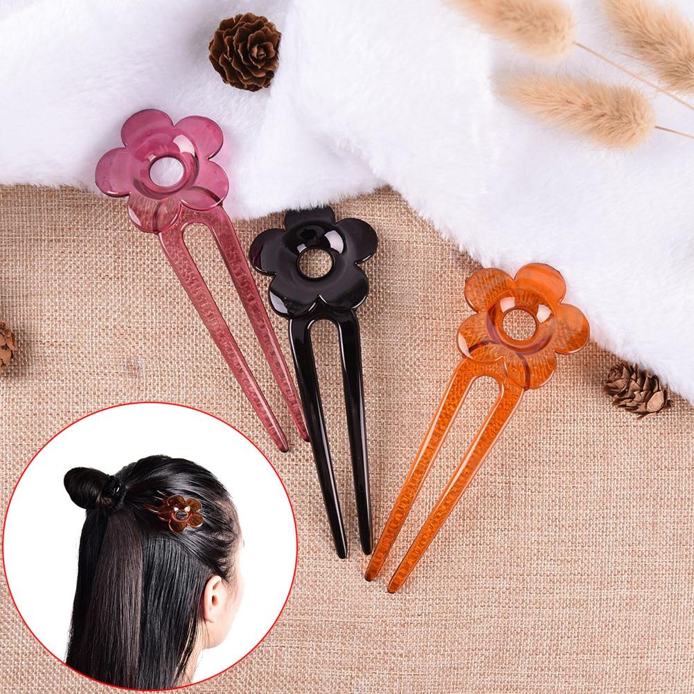 1 unidad de palitos para el pelo hechos a mano para mujeres, accesorios para el cabello para novia de resina, flor de ciruelo, accesorios para el cabello de plástico