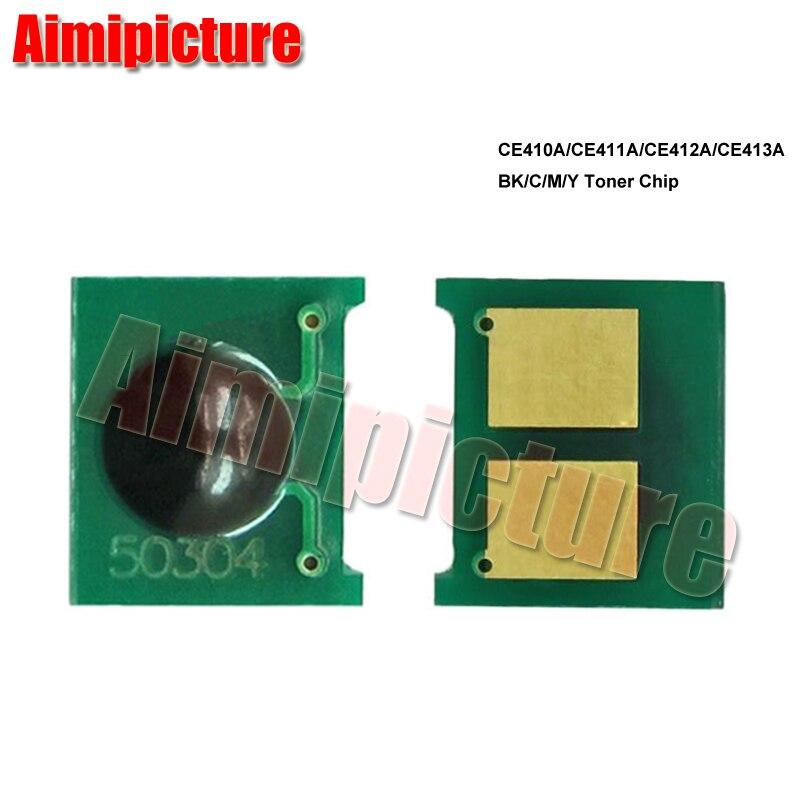 CE411A CE412A CE413A CE410 410A 305A CE410A Chip de cartucho de tóner para HP Color 300 M351 M375nw 400 M451 M475 BK/C/M/Y 4 unids/lote