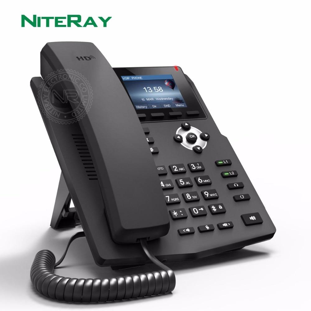 X3SP SOHO IP الهاتف صناعة الهاتف 2 SIP خطوط فتح VPN ، HD صوت ، 2.4 بوصة اللون LCD سطح المكتب مكتب VoIP الهاتف