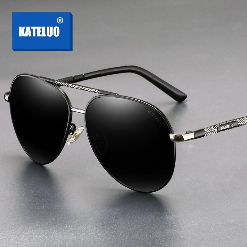KATELUO 2020 Classic Mens Sunglasses Polarized Lens UV400 Sun Glasses For Men Military Quality Drivi
