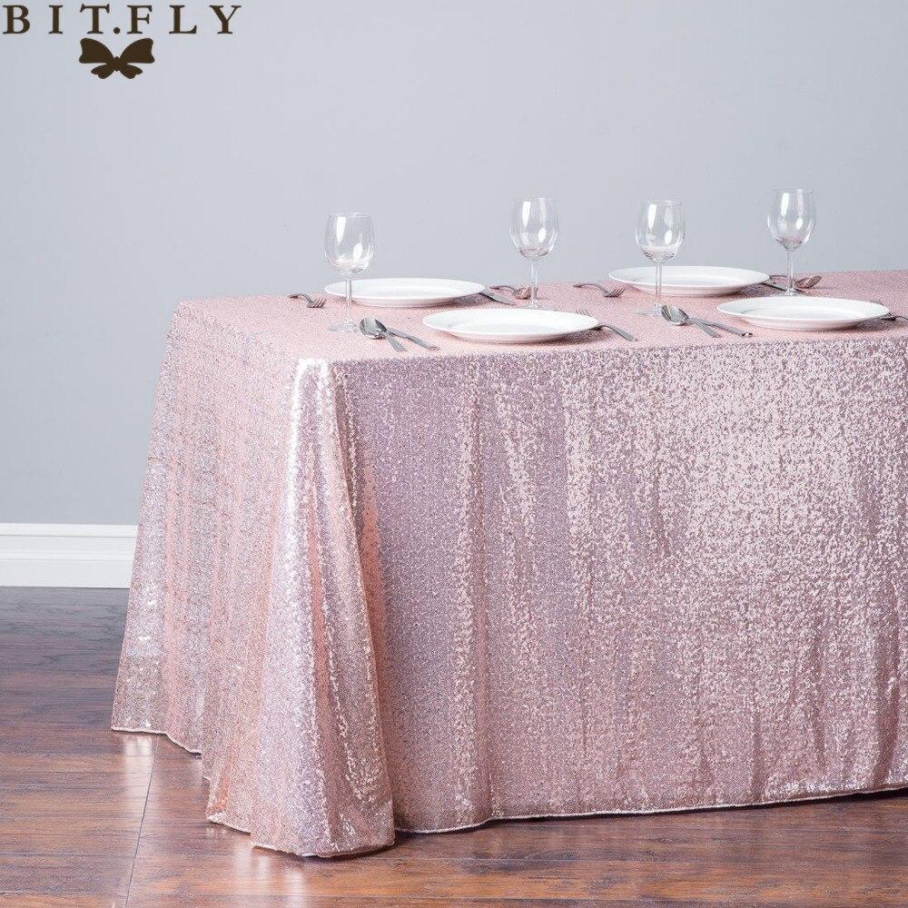 BIT.FLY, 1 pieza, falda de mesa glamurosa de lentejuelas doradas y plateadas brillantes, tela, mantel para bodas, fiestas, eventos, dulces decoraciones de mesa