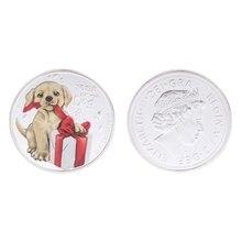 Austrália cão ano comemorativo moeda coleção presente lembrança arte metal antigo australiano ano do cão não moeda moeda