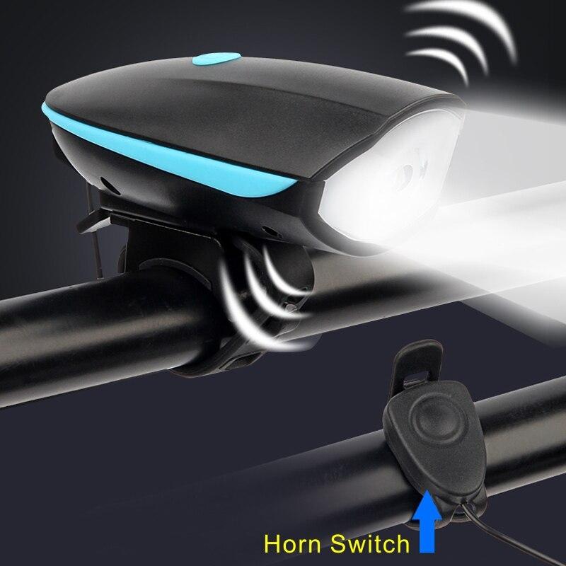 Timbre eléctrico de 120db con luz LED recargable por USB para bicicleta, accesorios para bicicleta, linterna para bicicleta, bocina para ciclismo