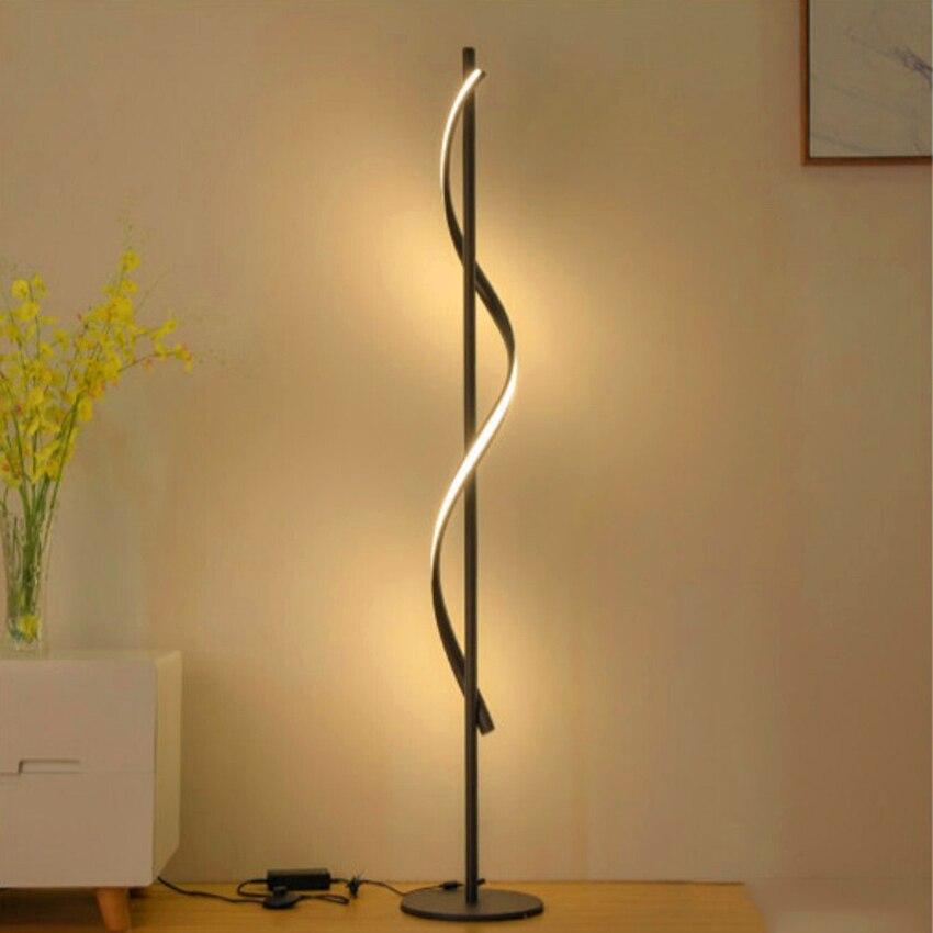 Lámpara de pie LED moderna para salas de estar, luz de poste de pie para habitaciones familiares y oficinas iluminación regulable