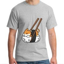 2019 New Arrival Fashion Brand Clothing Cute Shiba Inu Sushi Shirt Doge Doggo Meme T-Shirt T Shirt