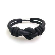 YD&YDBZ Designer Handmade Bracelets For Women 2019 New Rubber Bracelet Bind Fashion Accessories Wholesale Black And Gray Chains
