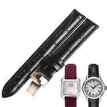 WENTULA watchbands for tissot T02  T-WAVE T028 calf-leather band cow leather Genuine Leather leather strap watch band 14MM