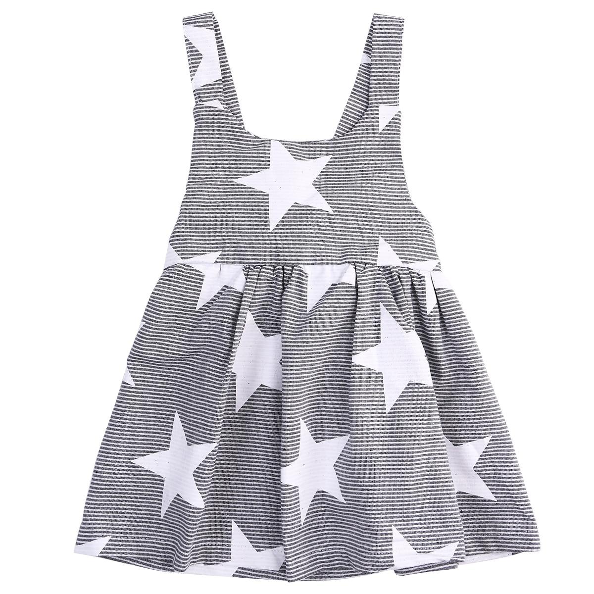 girls dresses summer 2016 Baby kids Girls Summer Sleeveless Beach Sundress Star Stripe Party Dress