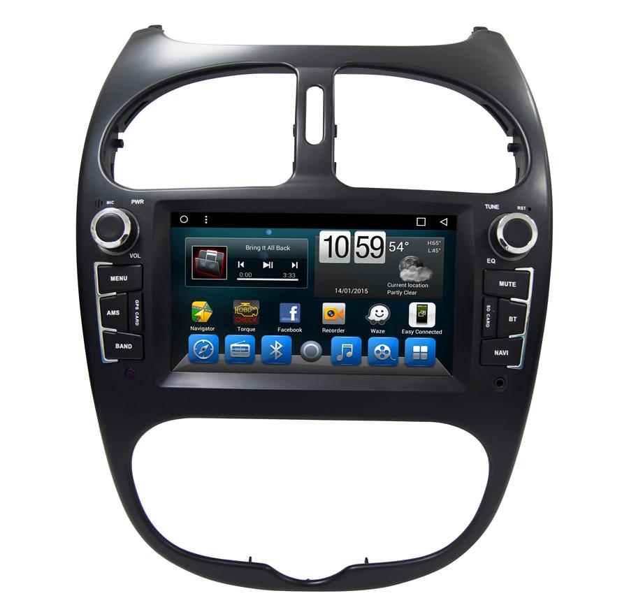 Reproductor de dvd para coche Navirider para Peugeot 206, octa core, android 8.1.0, gps para coche, Unidad Principal multimedia, grabadora de cinta ESTÉREO