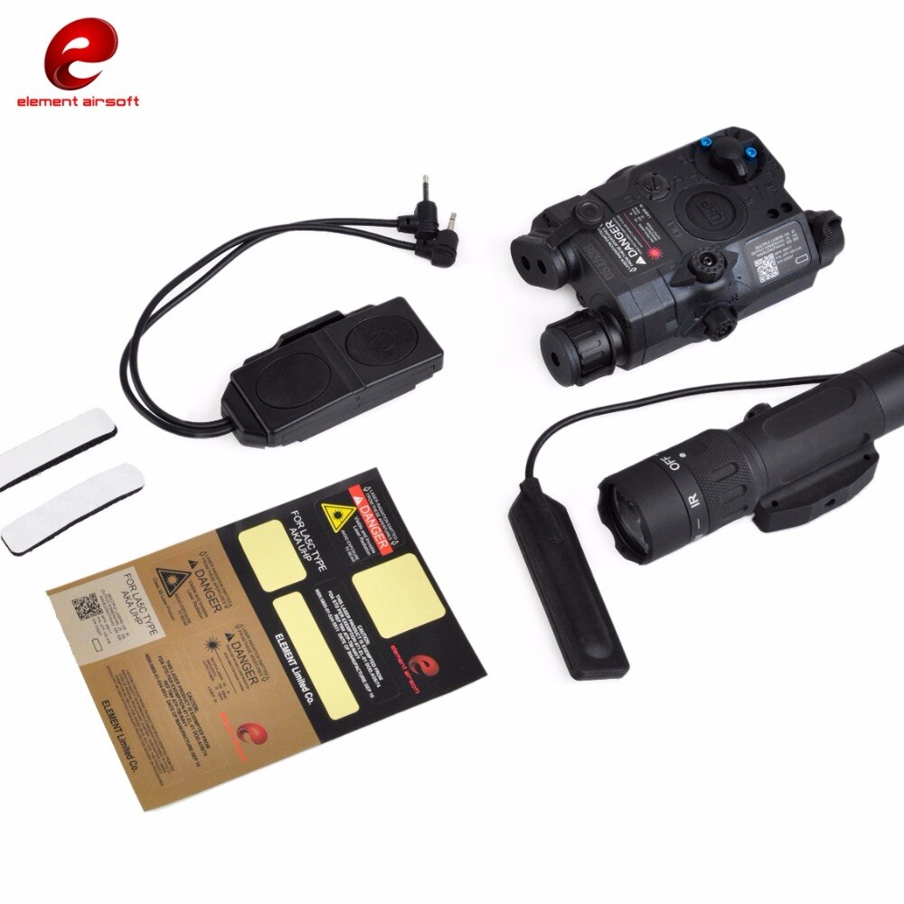 Element Airsoft PEQ 15 linterna táctica WMX200 infrarrojo IR PEQ 15 LA-5C verde láser IR armas láser pistola de luz PEQ15 EX424
