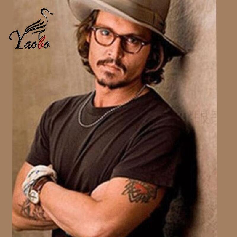 Retro Vintage Optical Eyeglasses Fake Fashion Johnny Depp Glasses Frame Men Women Myopic Glasses Frame oculos grau feminino