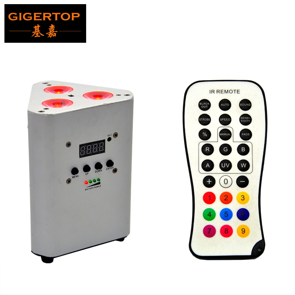 TIPTOP TP G3047 4IN1 3*10W 7500 MAH Li con batería IR LED cuña etapa Par latas plata funda de Color para boda libertad Par Quad-4