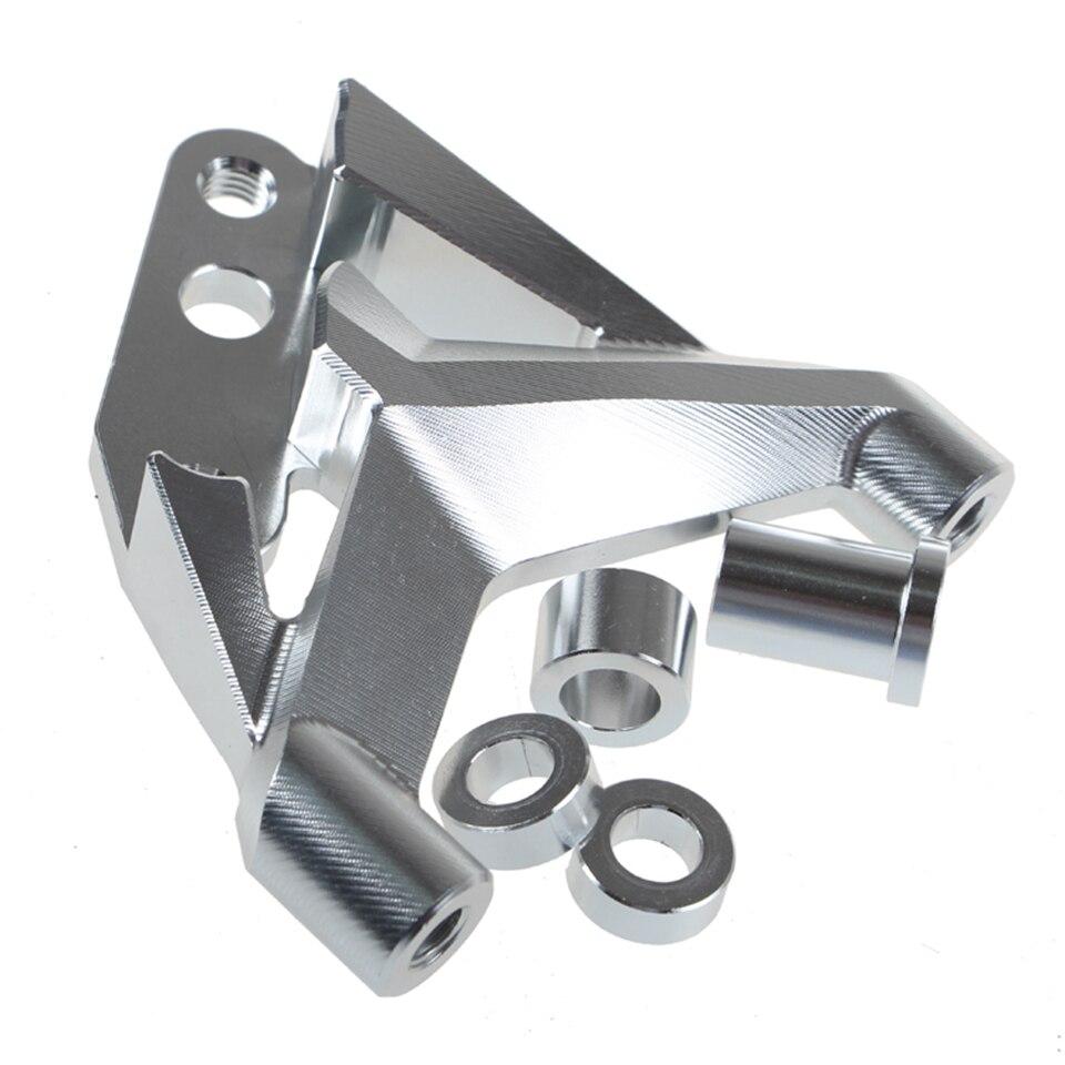 Adaptador de amortiguador de impacto frontal para motocicleta de 100mm/220mm, adaptador de calibre de horquilla delantera de disco de transferencia de impacto frontal, soporte adaptador