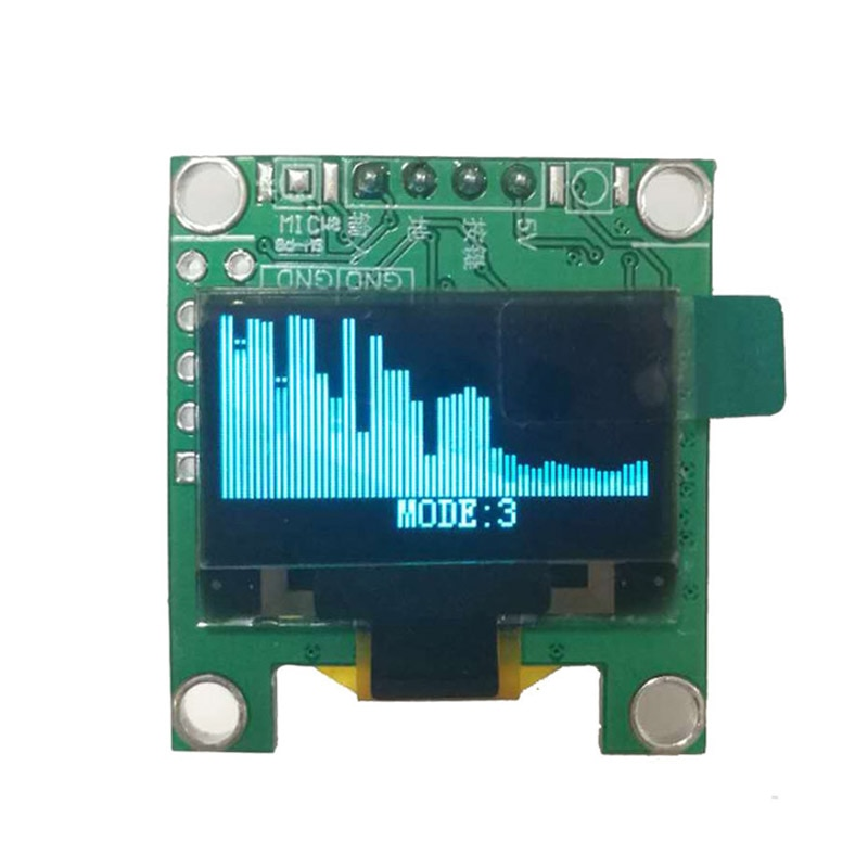 Мини 0,96 дюймовый OLED анализатор музыкального спектра MP3 ПК усилитель аудио индикатор уровня музыкальный ритм анализатор VU метр