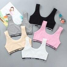Girls Bra Underwear Lingerie Kids Teens Teenage Young Adolescente 6-12Years student Cotton Double de