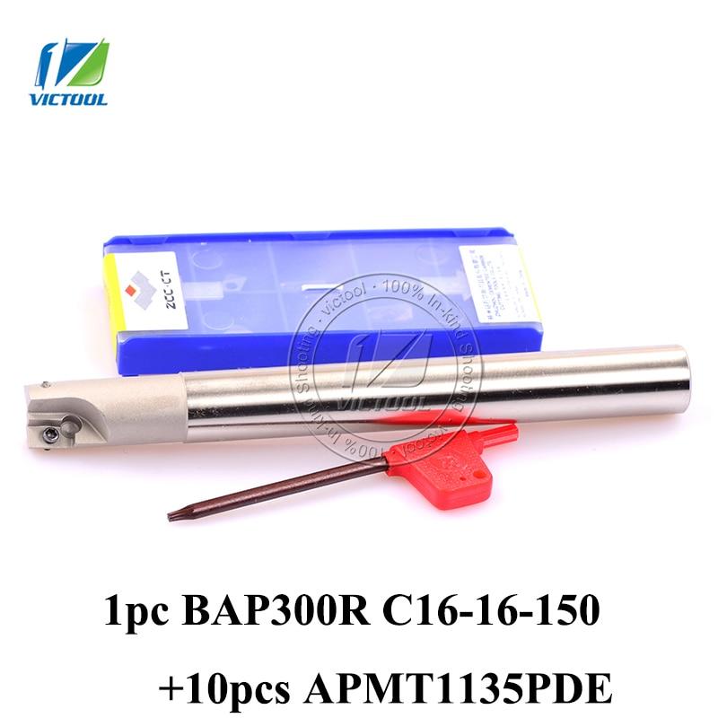 Фрезерная головка BAP 300R C16-16-150 с 10 шт. APMT1135PDR вставка квадратное плечо лицо высокоскоростная Концевая мельница 150 мм Длина