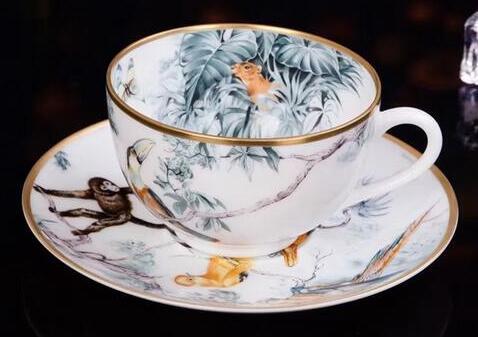 Envío Gratis Animal de la selva de café conjuntos de taza y platillo