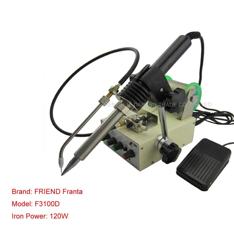 1 Pza F3100D máquina de alimentación automática de estaño 220V soldador de temperatura constante Teclast máquina de soldadura de pie multifunción