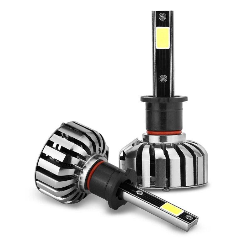 2 uds H1 H3 H4 H7 H13 880 9004 HB5 80W 6000K coche faro bombillas Super brillante de LED automotriz faro CZ