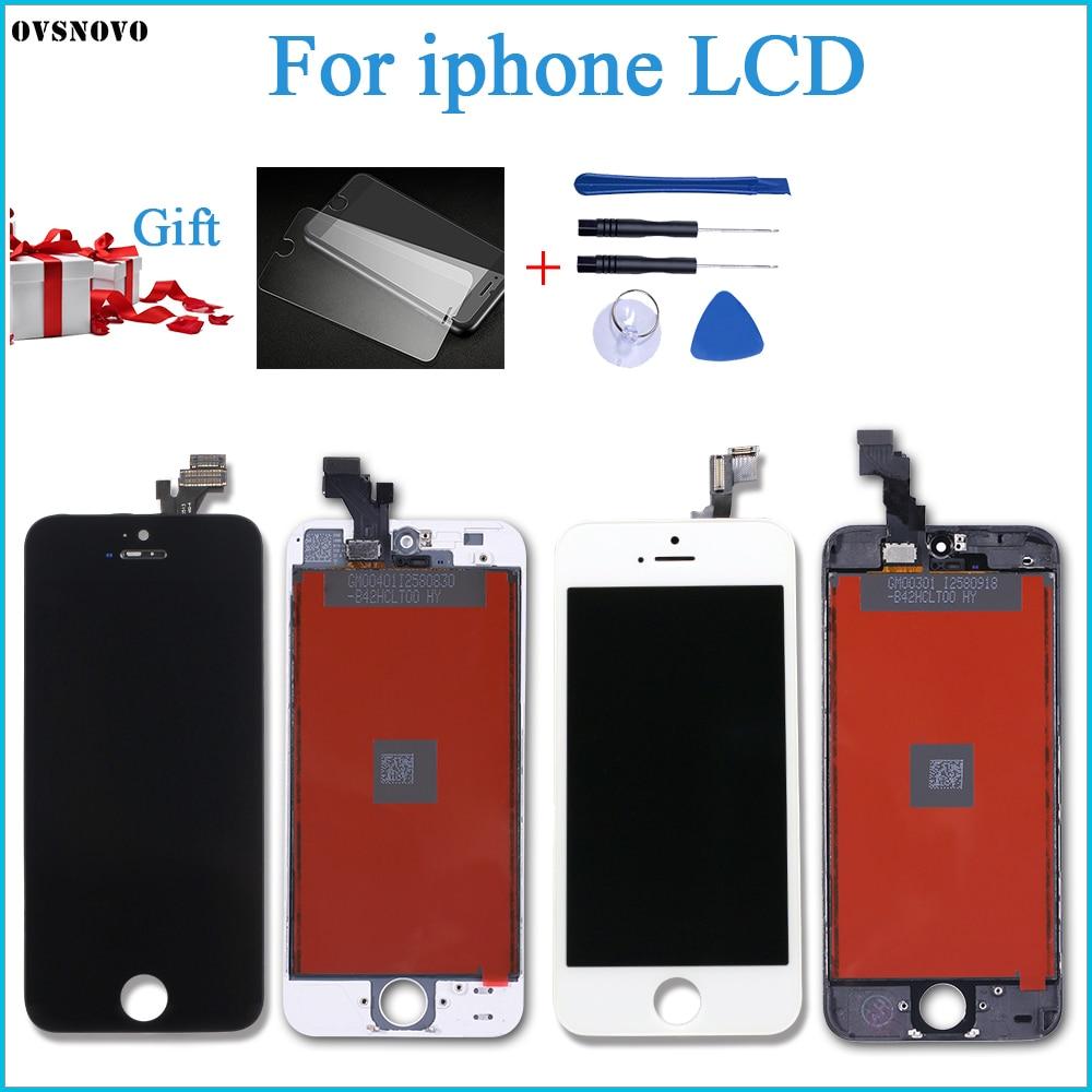 Заводская распродажа, качественный ЖК-экран AAA для iPhone 5, 5S, 5C, SE, 5SE, сменный сенсорный экран с цифровым преобразователем