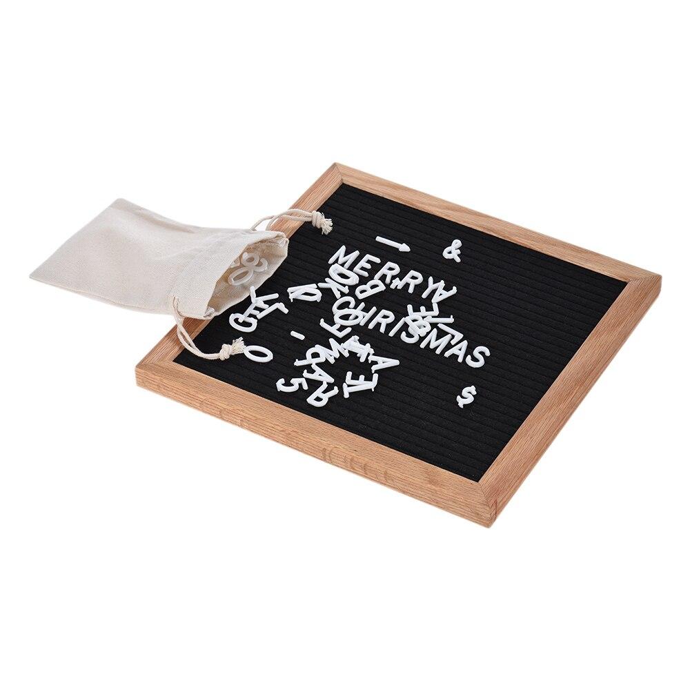 NNRTS креативная доска для письма знак для дома офиса декоративная доска Дубовая Рамка белые буквы символы цифры иероглифы сумка для офиса