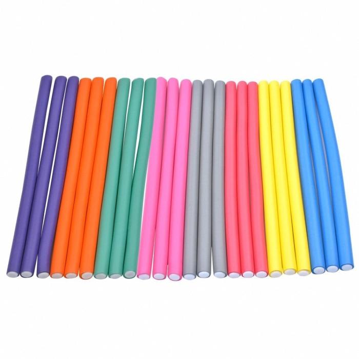10pcs Flexible Hair Curling Rod Hair Curler Makers Soft Foam Bendy Twist Curls Flexi DIY Rollers Sty