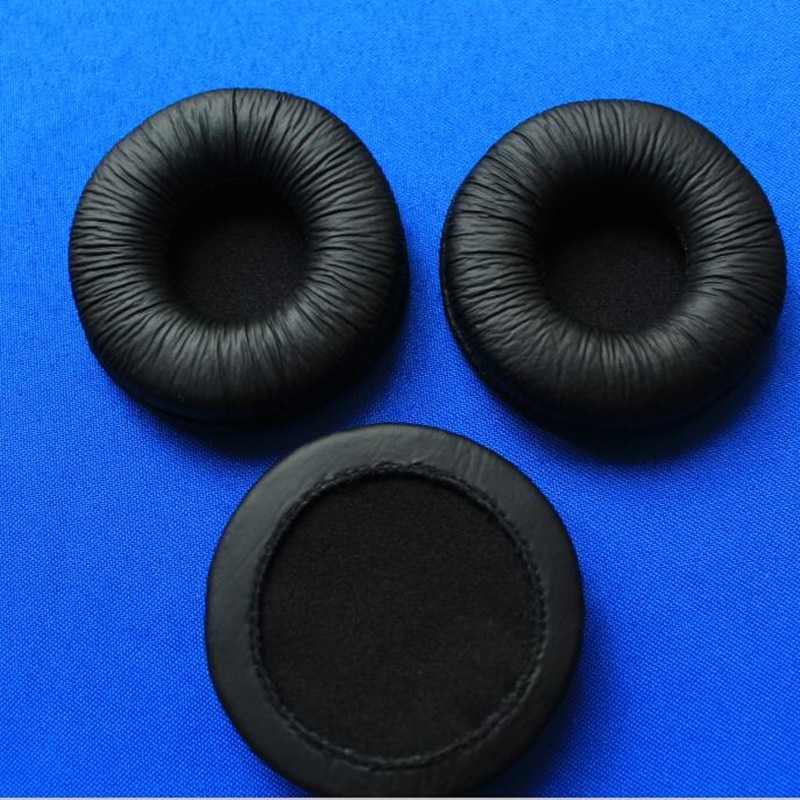 Linhuipad 100 pack of 6cm Soft Foam Replacement Ear Pads Soft Sponge Durable Cushions 60mm Leatherette Earpads for H8020 Headset enlarge