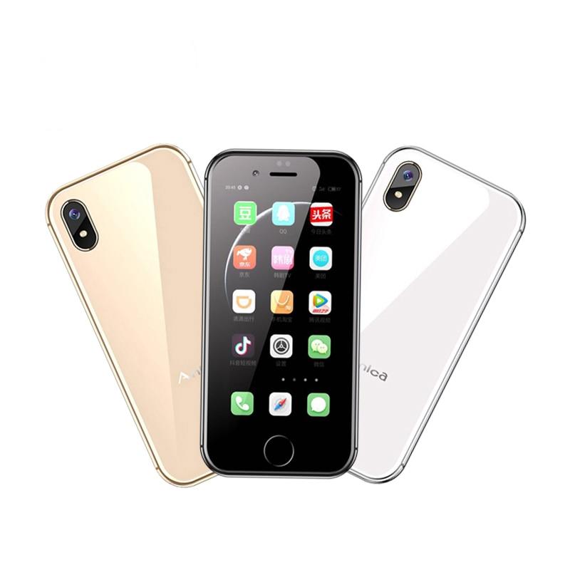 "Anica I8 Mini GSM WCDMA Android Teléfono Móvil 2,4 ""Pantalla Quad Core 5.0MP Dual SIM Google Play Store"