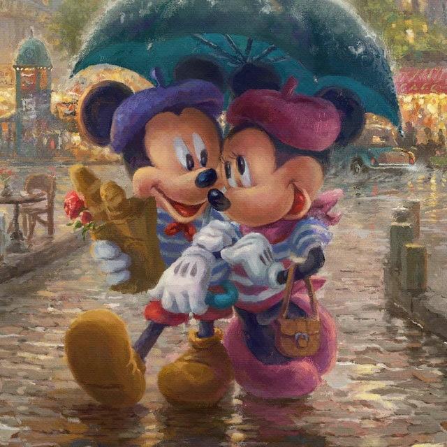Paintings cartoon two Mickey Minnie diy 5d diamond painting cross stitch full Square Resin Diamond Embroidery Kit Printed