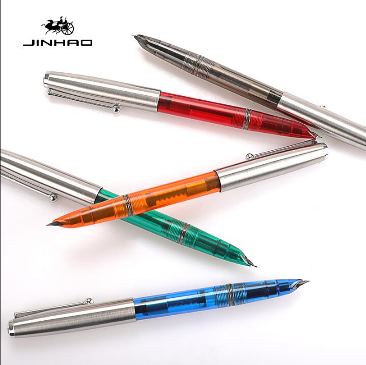 Luxury New Jinhao 51A Retro finance office stationery Fountain Pen Student school office ink pens sales jinhao 500 unique black engraving luxury stationery school fountain pen and office to write ink pen